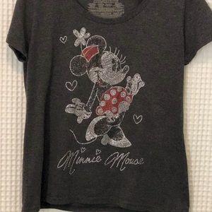 Disney Minnie Mouse Rhinestone Bedazzled Shirt